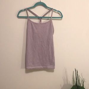 Lululemon size 8 y tank top in purple stripe